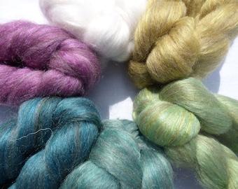 Blended Top - BFL Corriedale Silk - The Newstead Peacocks - Sample Pack - 200g