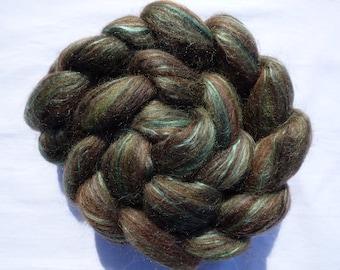Blended Top - Merino Shetland Corriedale Silk - The Elements:Ages - BRONZE - 100g