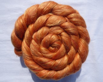 Blended Top - Merino Shetland Corriedale Silk - The Elements:Ages - COPPER - 100g