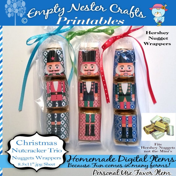 Hershey Nuggets Candy Wrapper Christmas Nutcracker Trio