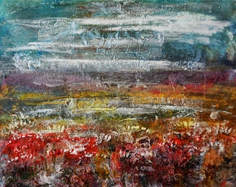 abstract landscape painting 5 listed artist Drouot abstract landscape painting