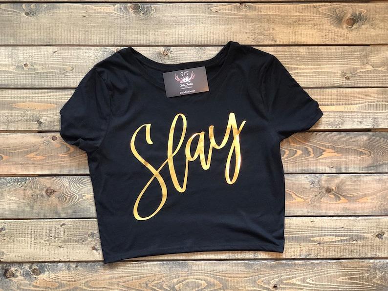e33073680c080c Slay Crop Top Slay Shirt Beyonce Shirt OTR II Tour