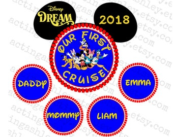 Nautical Our First Cruise Disney Door Magnet Set