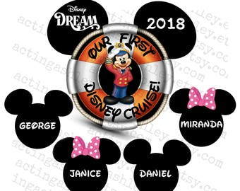 Personalized Our First Disney Cruise Door Magnet Set