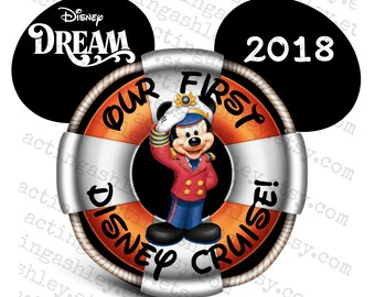 Our First Disney Cruise Captain Mickey Cruise Door Magnet