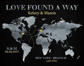 Love Found a Way, Long Distance Map, Closing the Distance, Moving in Together, Together at Last, Silver and Gold, Modern Traditional | WF317