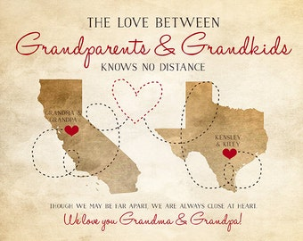 Grandparents Gifts, Nana, Grandpa, Grandma, Papa - Long Distance Parents, In Laws, Rustic Art, Rustic Decor, Grandfather Quotes | WF10