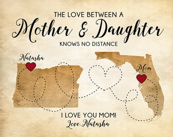Gifts for Moms, Personalized Gifts, Mother Daughter Quotes, Gift for Parent, Gift for Mom, Long Distance, Moving Gift, Going Away | WF568