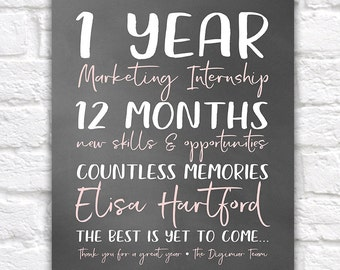 Intern Gift, Years at Company, Leaving Company Gift, New Career, Job, Opportunity, 1 Year Work Anniversary, Internship Gift, College | WF398