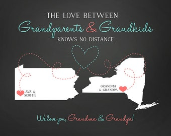 Gift for Grandparents from Grandchildren,  Personalize Christmas Gift for Unique Father Mother from Granddaughter Grandson Grandkids | WF165