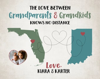 Christmas Gift for Grandparent, Grandpa or Grandma Gift Personalize Gift from Grandchild, Grandson, Granddaughter, Grandparent Gifts | WF628