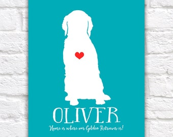 Golden Retriever Dog Gift - Personalized Pet Gifts, Dogs, Animal, Dog Name, Funny, Cute, Silly, Gift for Friends, , Golden Mom | WF82