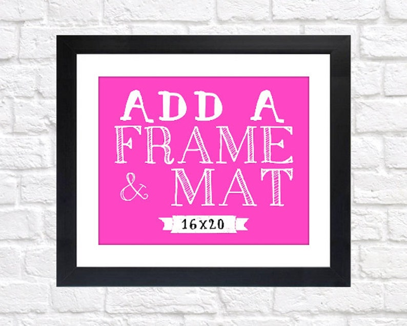 ADD ON  16x20 Print Frame  Frame and Mat Silver Black image 0