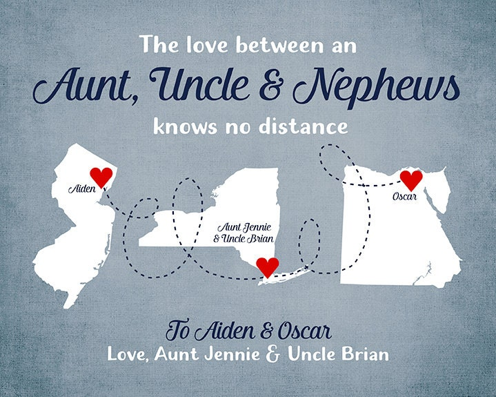 Gift For Aunt, Uncle, Nephew And Nieces, Godparents, Long
