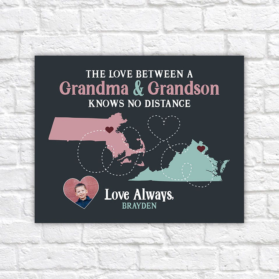 Gift For Grandma From Grandson Or Granddaughter Cute