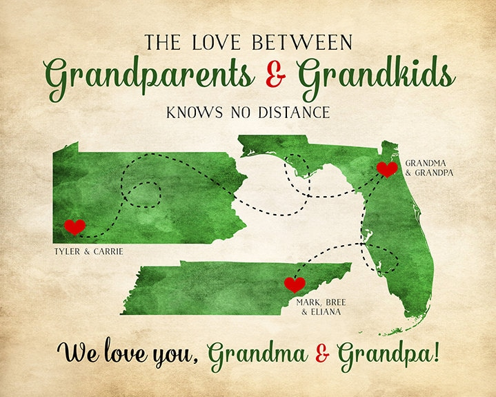 Grandparents Gift Grandma And Grandpa Quotes Long Distance Family