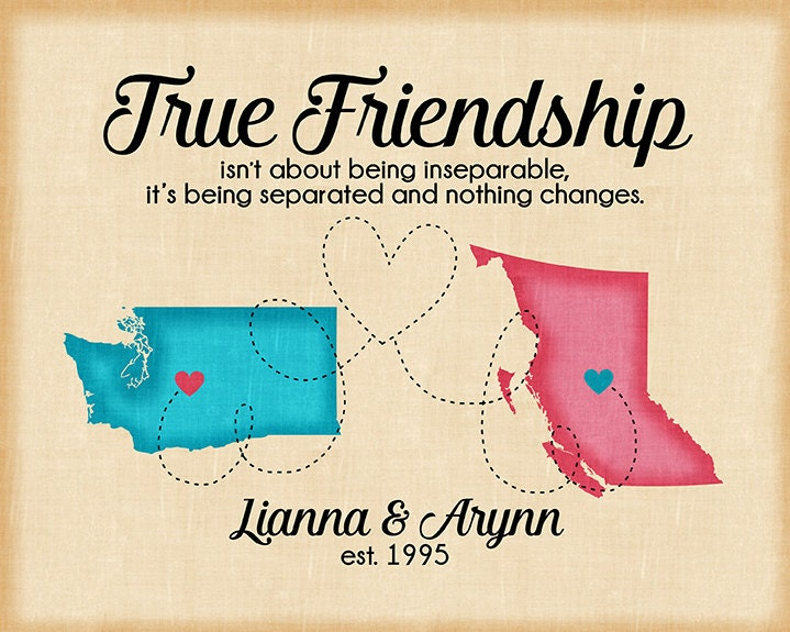 True Friendship Quote Long Distance Friend Maps Moving To Another Amazing Quote About Distance And Friendship