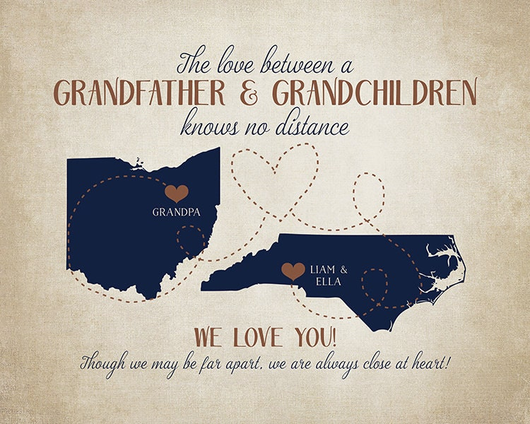 gifts for grandpa grandfather and grandchildren long distance gift