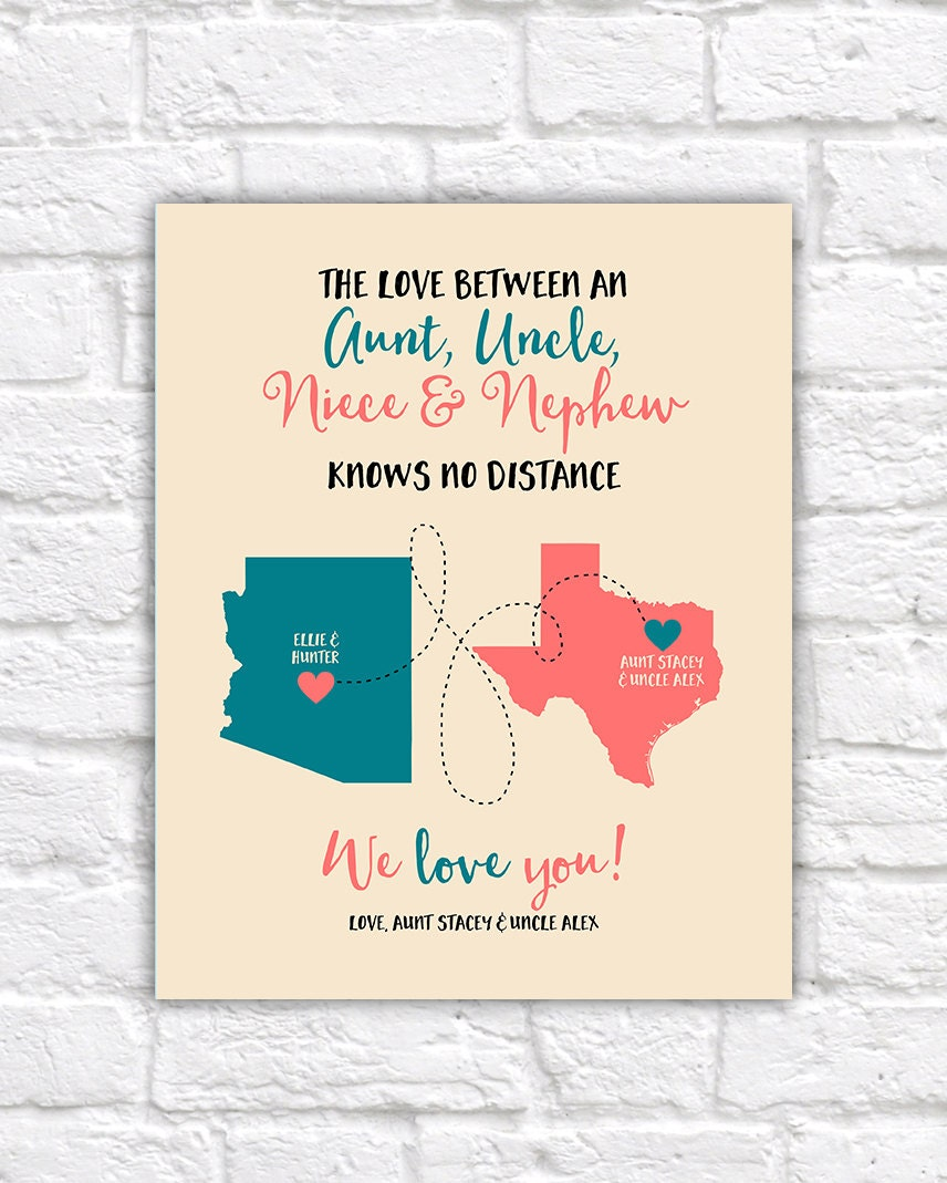 aunt uncle niece nephew gifts custom maps long distance family christmas gifts for aunt and uncle living far birthday wf267