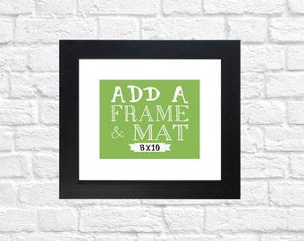 Add a Frame to your 8x10 Custom Print - Personalized Map Prints, Wedding Gifts, Gift for Bride and Groom