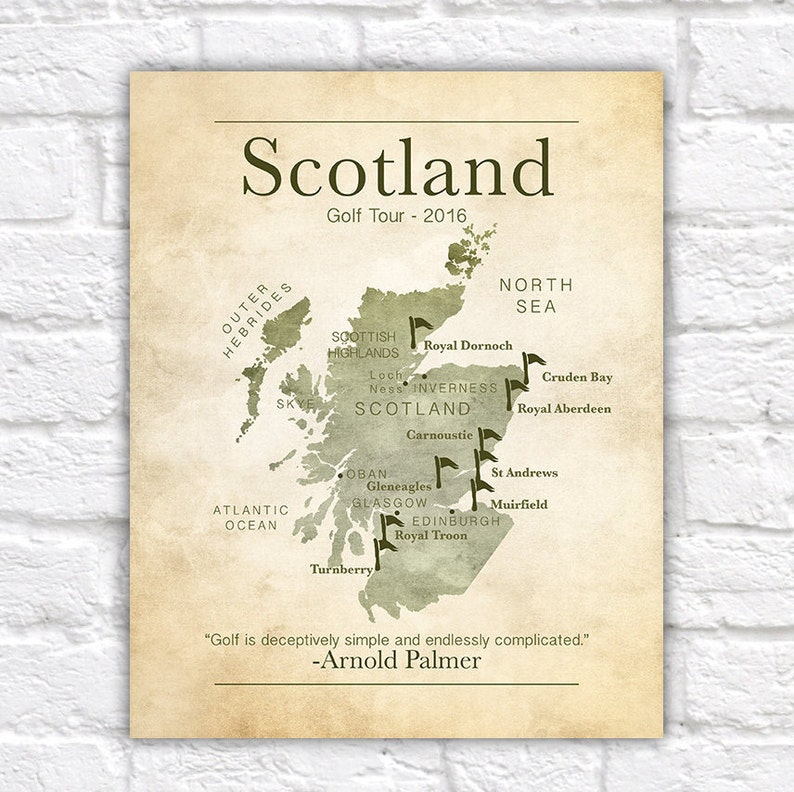 Golf Gift Gifts for Golf Lovers Scotland Golf Tour Scottish image 0