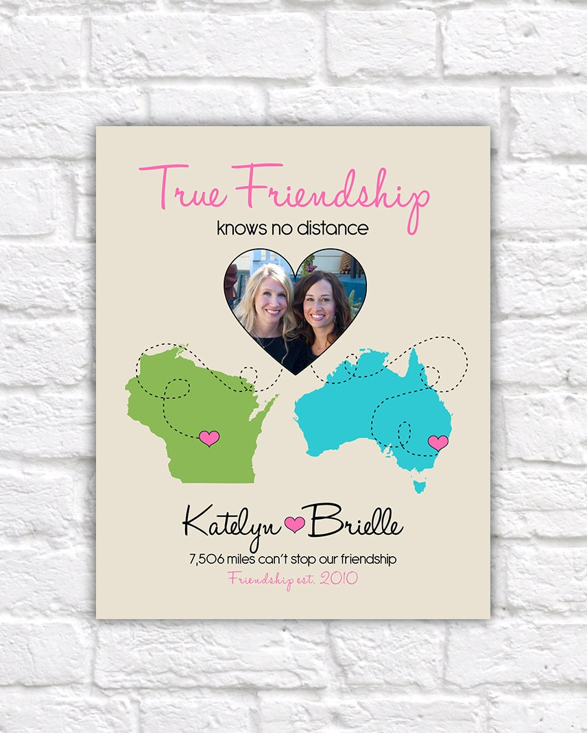 True Friendship Quote Gift For Best Friend Custom Art Etsy