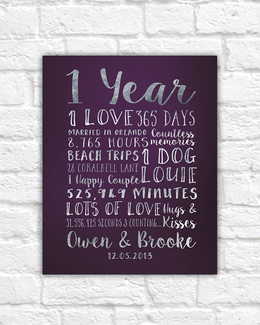 First Wedding Anniversary Gift Paper: First Anniversary Paper Gift Traditional Anniversary Gift
