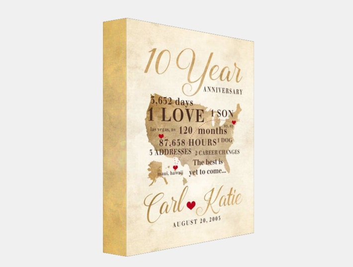 What Is 10th Wedding Anniversary Gift: 10 Year Anniversary Gift, Gift For Men, Women, His, Hers