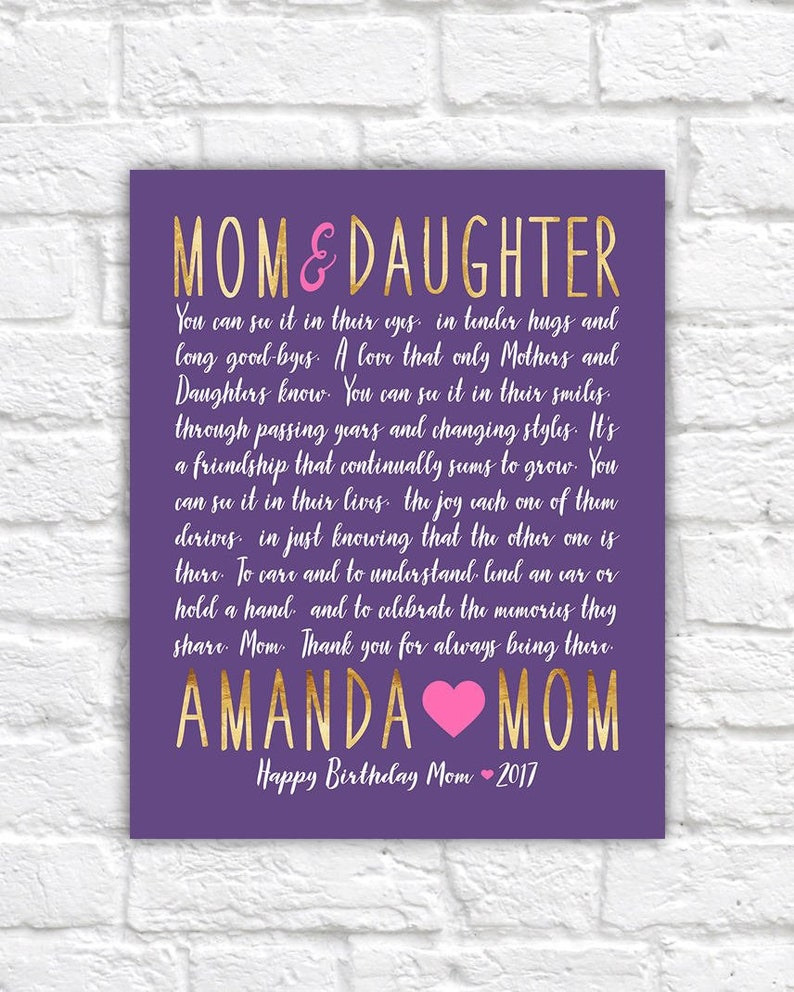 Birthday Gift For Mom Or Daughter Personalized Bday Present