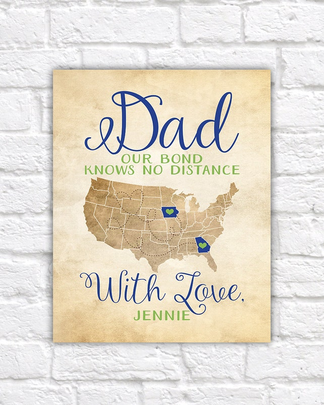 Gift for Dad, Fathers Day Gifts, Long Distance Father and Daughter, Kids, Son, Deployment, Gift for ...
