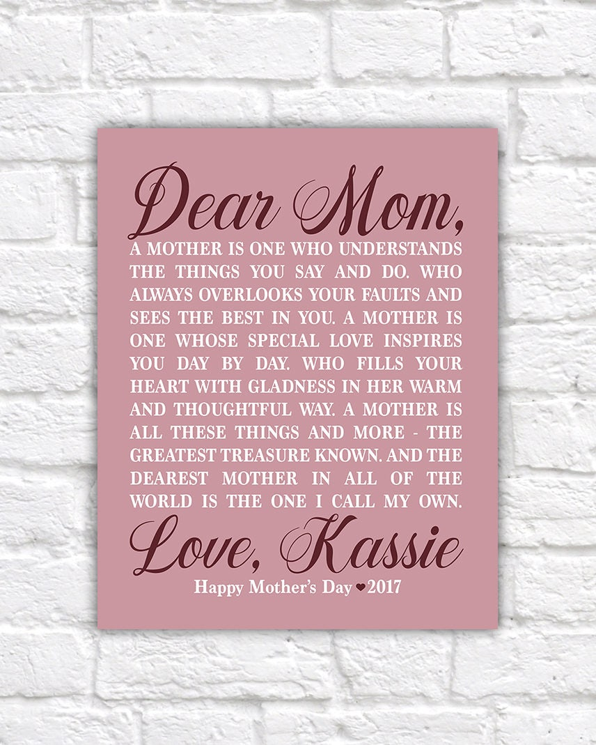Personalized Mother's Day Gift for Mom from Daughter, Mom