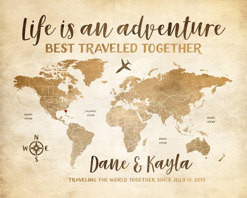 World Map Personalized for Couple, Wedding Gift, Travel Map, Rustic on travel map decor, travel map clipart, travel map quotes, education ideas, travel map with pins, travel map of america, travel map gifts, travel map planning, travel map themes, bucket list ideas, travel map symbols, travel map software, home ideas, travel map design, travel map places, advertising ideas, travel map the world,