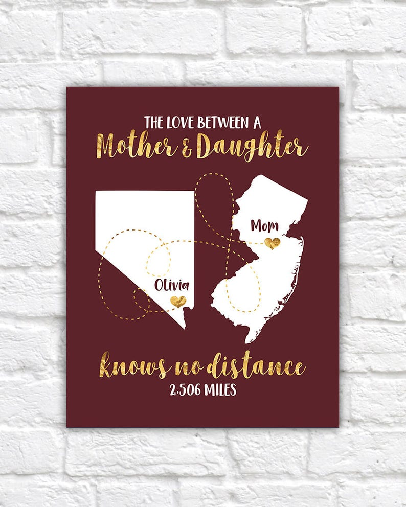 Mothers Day Gift Long Distance Mom And Child Moving Out Of Etsy
