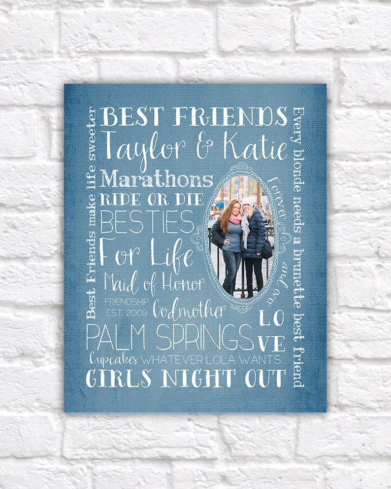 Best Friend Gift Custom Art Print For Friend Or Sister Etsy