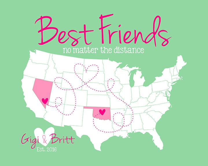 Best Friends Gift Long Distance Friendship