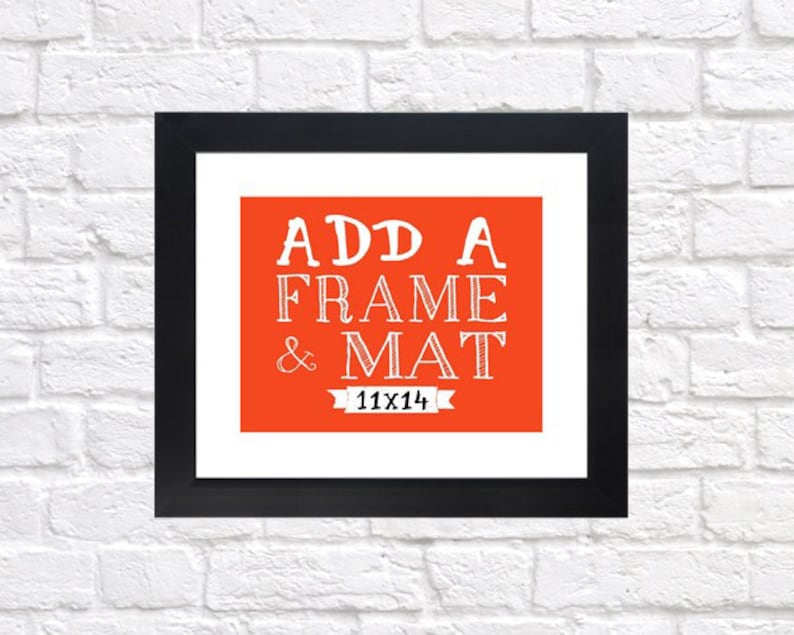 Frame your Custom Print  11x14 Frame and Mat Silver Black image 0