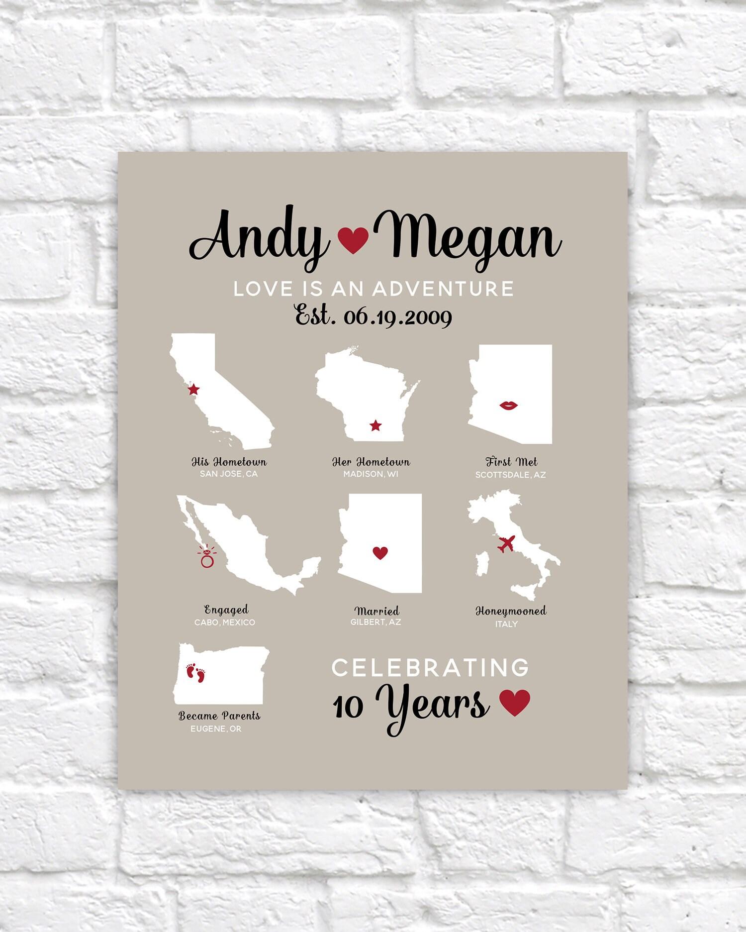 Custom Anniversary Map Infographic Style Design, 7 Maps ... on