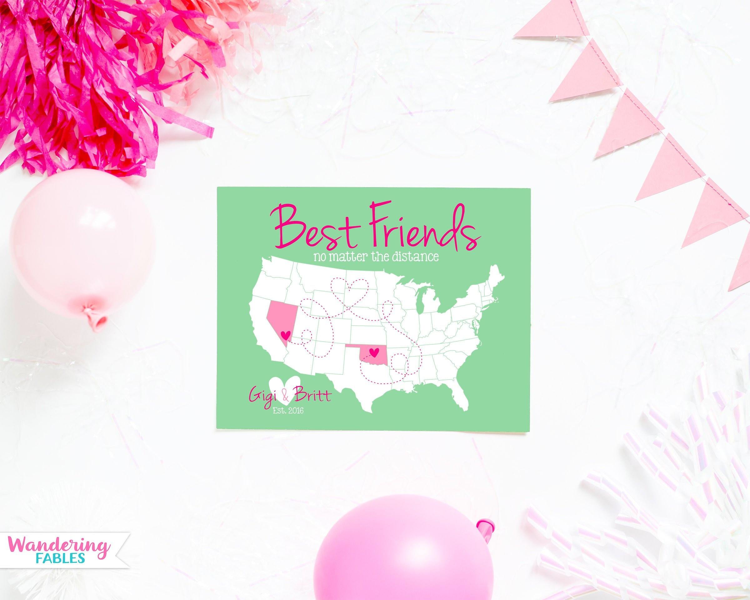 Best Friends Gift Long Distance Friendship