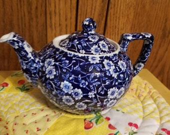 Blue Calico Tea Pot