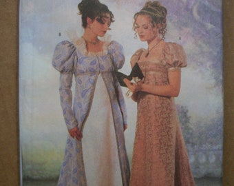 Butterick Costume Pattern 6630 Ms MAKING HISTORY Coat /& Dress ~ Jane Austen Look