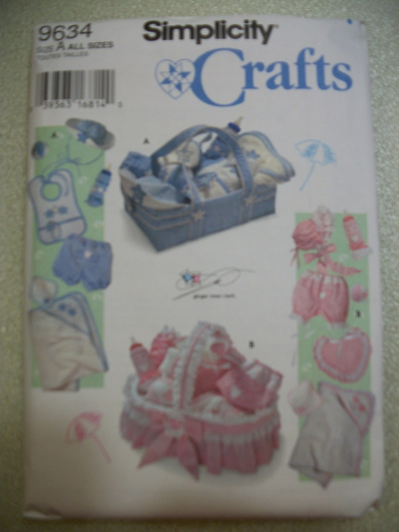 f4bff3f8463 Simplicity 9634 Babies  accessories includes panties and