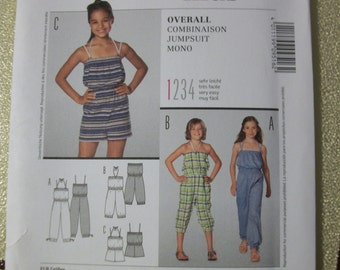 burda 9516 Child/Girl (Size 6,7,8,9,10,11) jumpsuit in 3 different lengths SO CUTE!