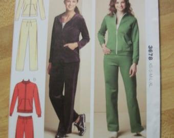 Kwik Sew 3678 Misses (Size XS-S-M-L-XL) jackets and pants