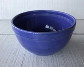 Vintage Nowles blue crock bowl Stoneware mixing bowl bread bowl depression era primitive crock bowl old farmhouse utilitarian stoneware