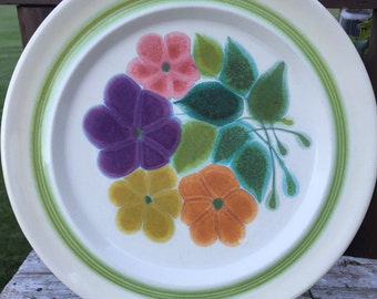 Vintage Franciscan Floral dinner plates,1970s earthenware plates, retro kitchen dishes, floral dinner plates, Vintage Franciscan Earthenware