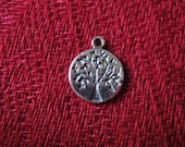 925 sterling silver oxidized tree of life charm