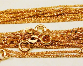 SALE 20pcs NP-1892 Bracelet Pendant Chain 235 SF 3+3 inch and extender 1.2 inch  Flat cable chain Rose Gold plated Delicate Chain
