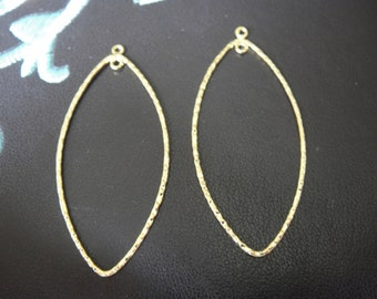 2PC vermeil over 925 sterling silver oval earring finding, earring finding, oval earring component, vermeil earring, oval earring