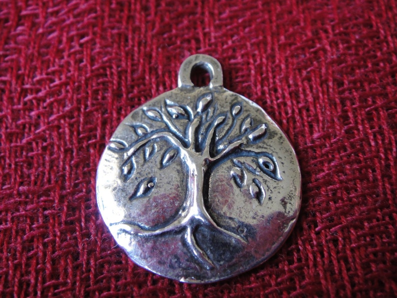925 sterling silver oxidized tree of life charm tree of life charm or pendant tree of life