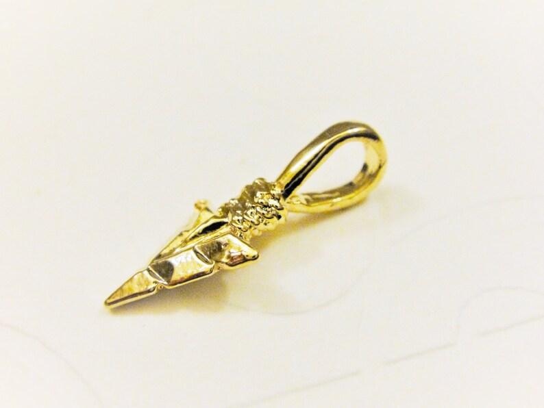 pendant 1 pc. shiny vermeil arrow arrow charm silver arrow arrowhead arrow 1 pc.Vermeil 18k gold over 925 sterling silver Arrow charm